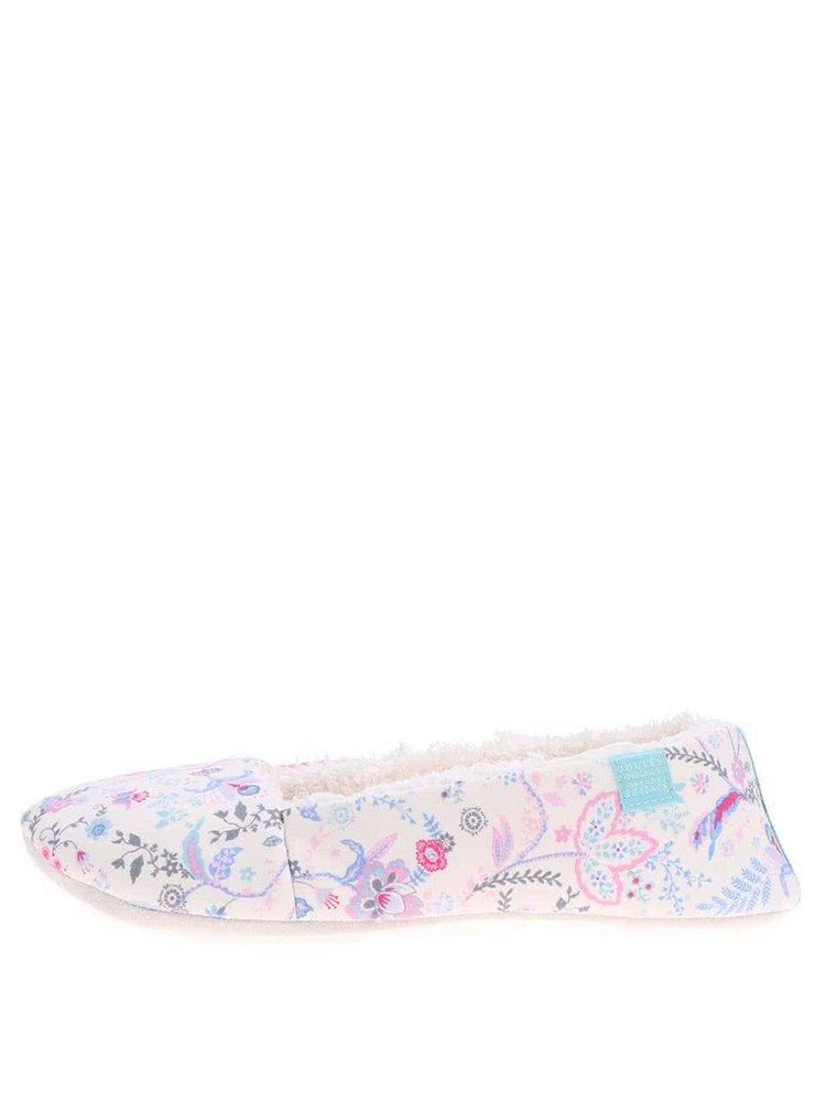 Krémové papuče s kvetmi Tom Joule Dreama