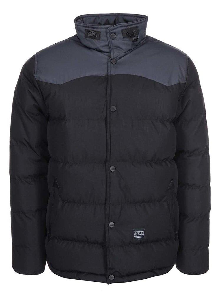 Šedo-černá zimní bunda D-Struct Gorm