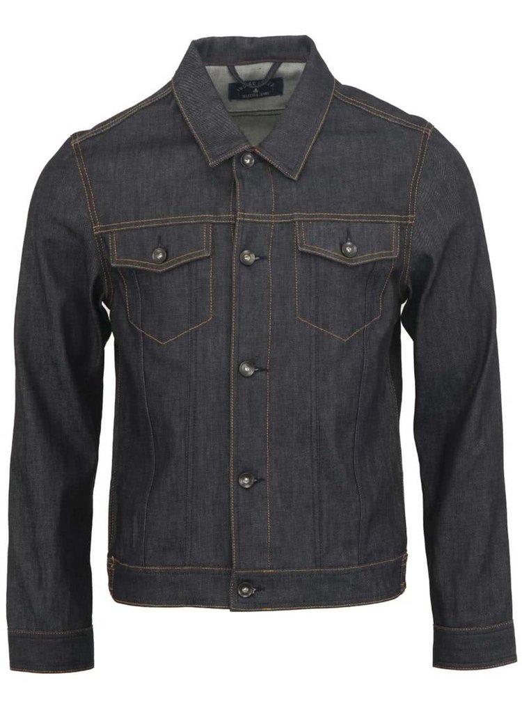 Pánská tmavě modrá džínová bunda Selected Homme