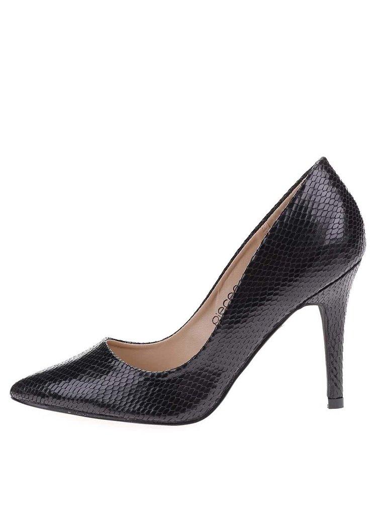 Pantofi cu toc Pieces Valerie negri