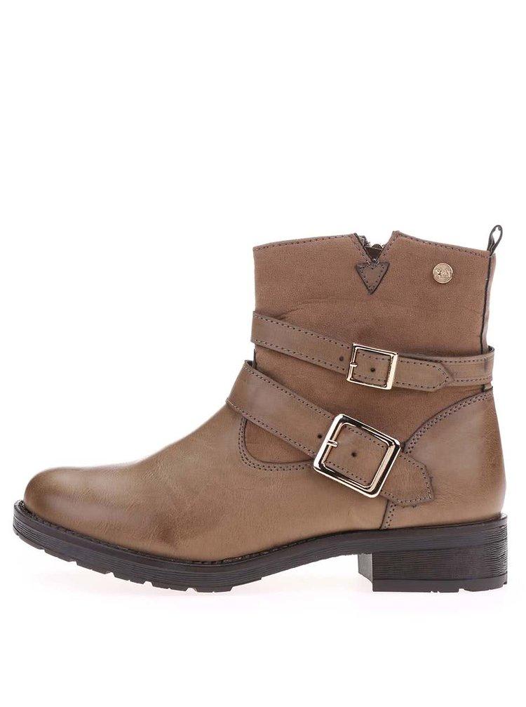 Hnedé členkové topánky s prackami Xti
