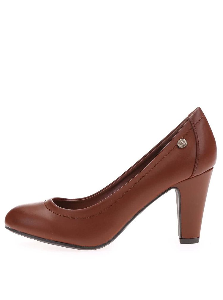 Pantofi cu toc înalt Xti - maro-închis