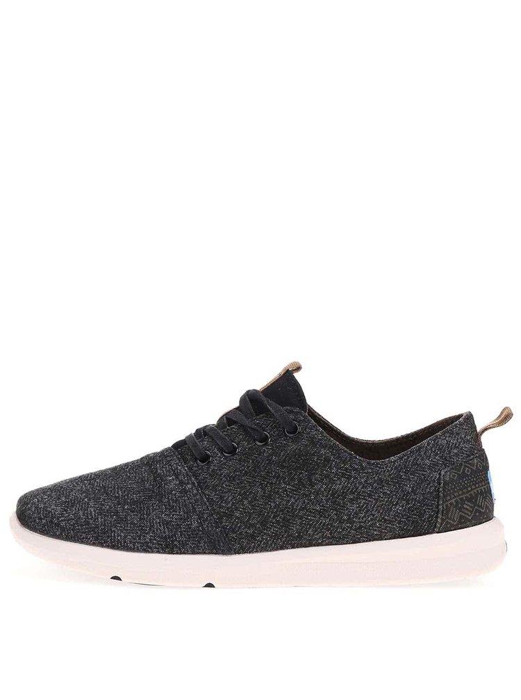 Pantofi sport bărbătești din piele neagră de la Toms