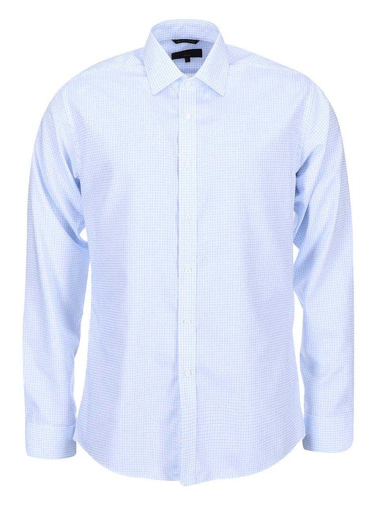 Camasa Slim Fit cadrilata Seven Seas Castaway - alb-albastru
