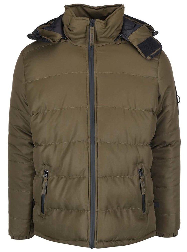 Khaki pánská bunda s kapucí Bellfield Ludlow