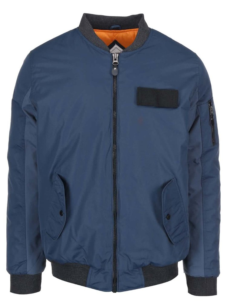 Jachetă bărbătească tip aviator de la Bellfield System - bleumarin