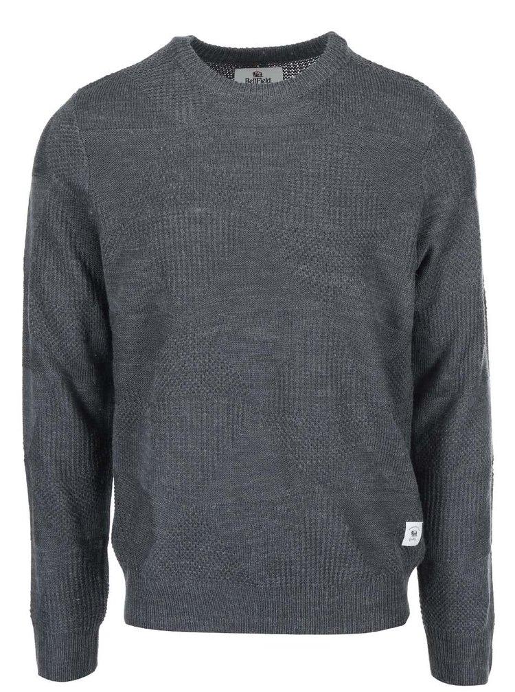 Šedý pánský svetr s příměsí vlny Bellfield Perlan