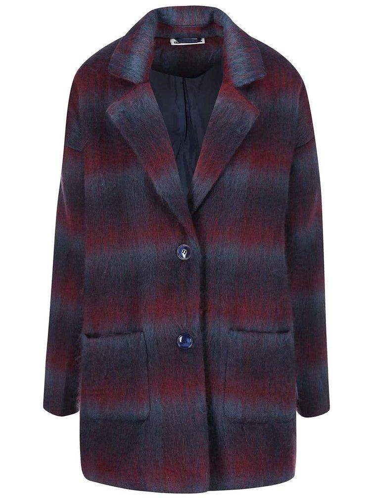 Sivo-vínový oversize kabát Noisy May New Katelyn