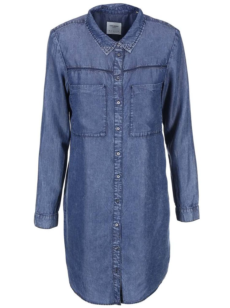 Modré denimové šaty VERO MODA Ashy