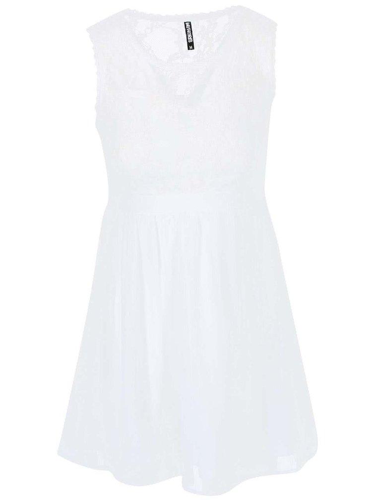 Bílé šaty s krajkovým vrškem Haily´s Lydia