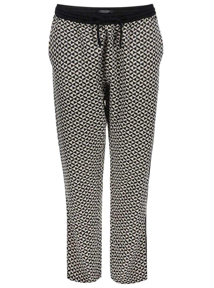 Čierno-krémové vzorované nohavice Maison Scotch