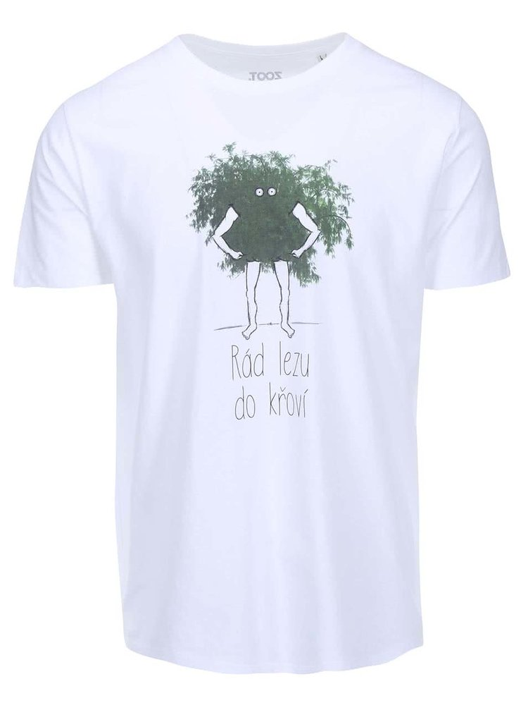 Biele pánske tričko ZOOT Originál Křoví