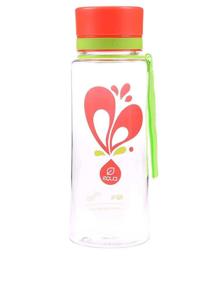 Plastová fľaša s motívom srdca EQUA (600 ml)