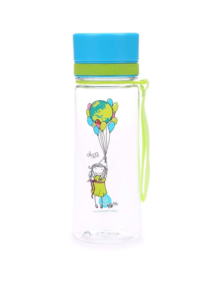 Plastová fľaša s balónikmi EQUA (400 ml)