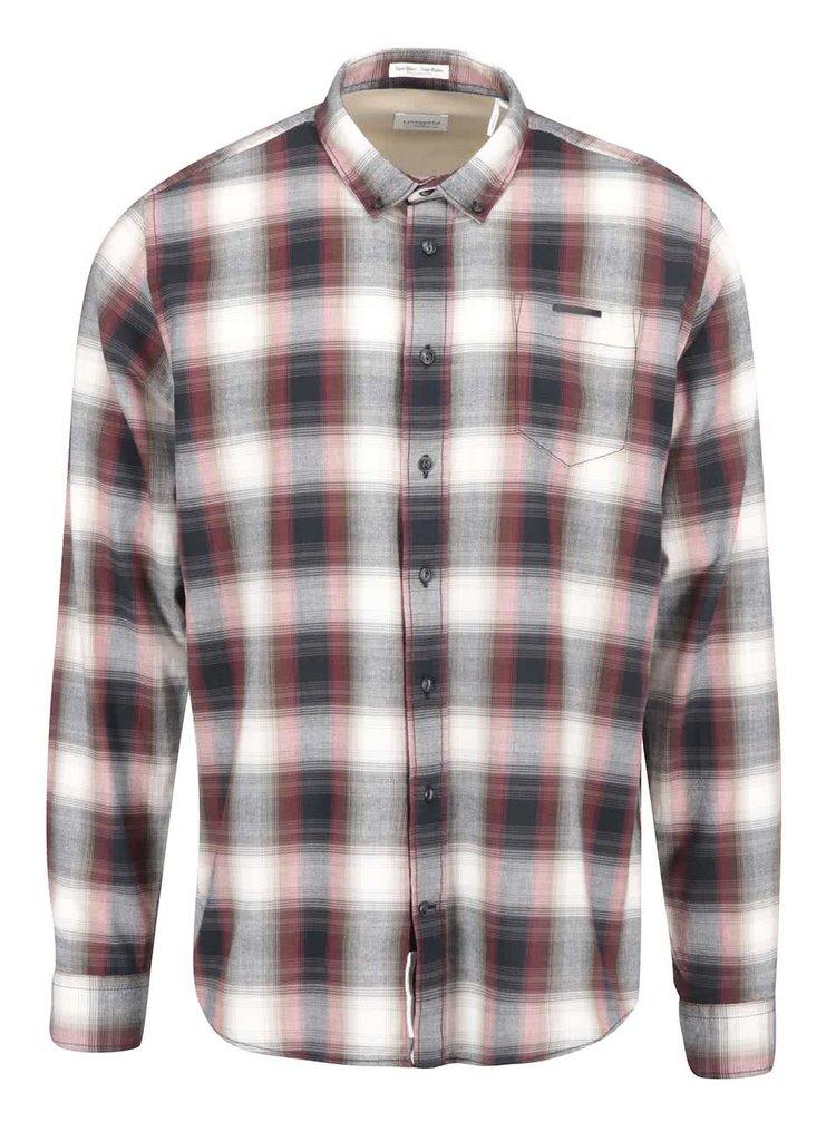 Sivo-krémová kockovaná košeľa Lindbergh