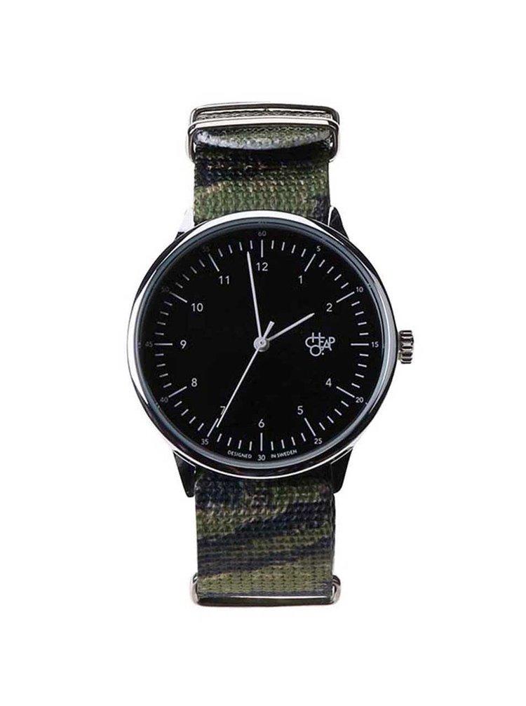 Pánské hodinky ve stříbrné barvě CHPO Harold Tiger Camo