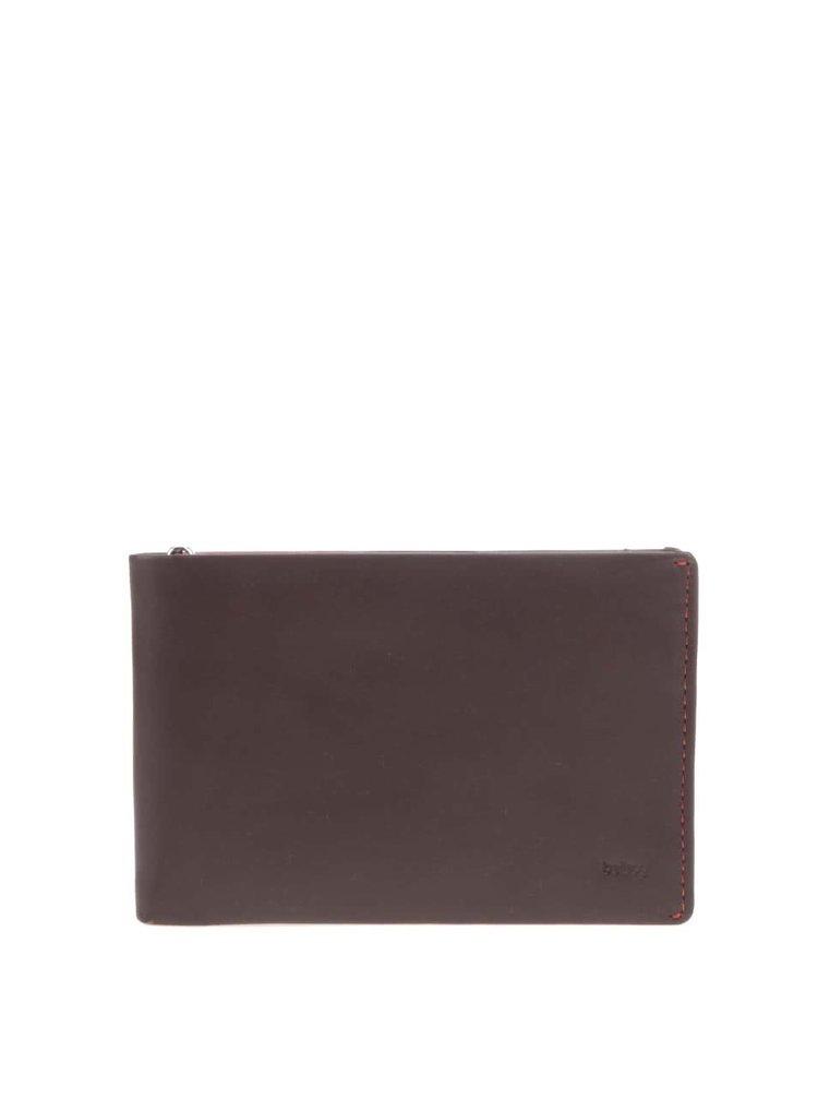 Tmavohnedá kožená cestovná peňaženka Bellroy Travel