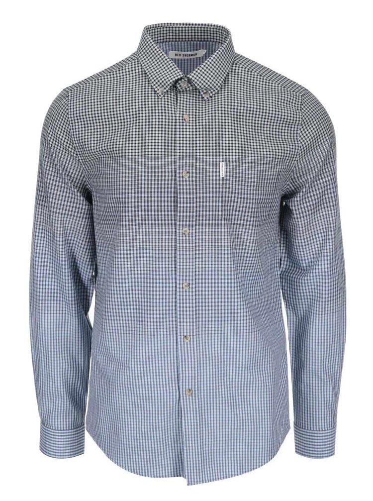 Modro-sivá kockovaná košeľa Ben Sherman