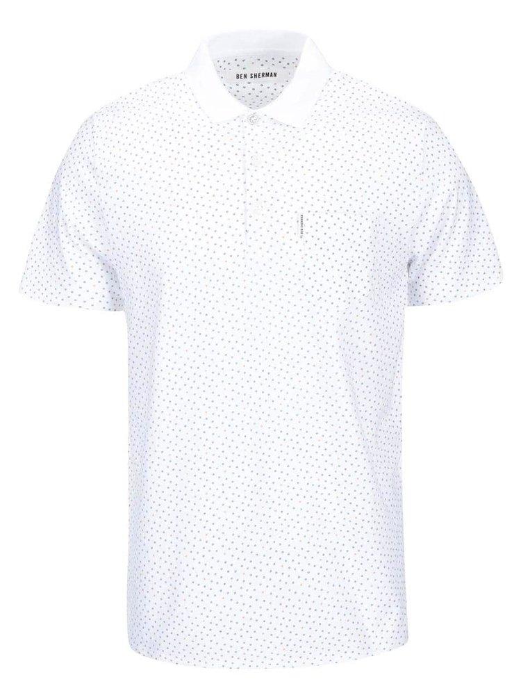 Bílé vzorované polo triko Ben Sherman