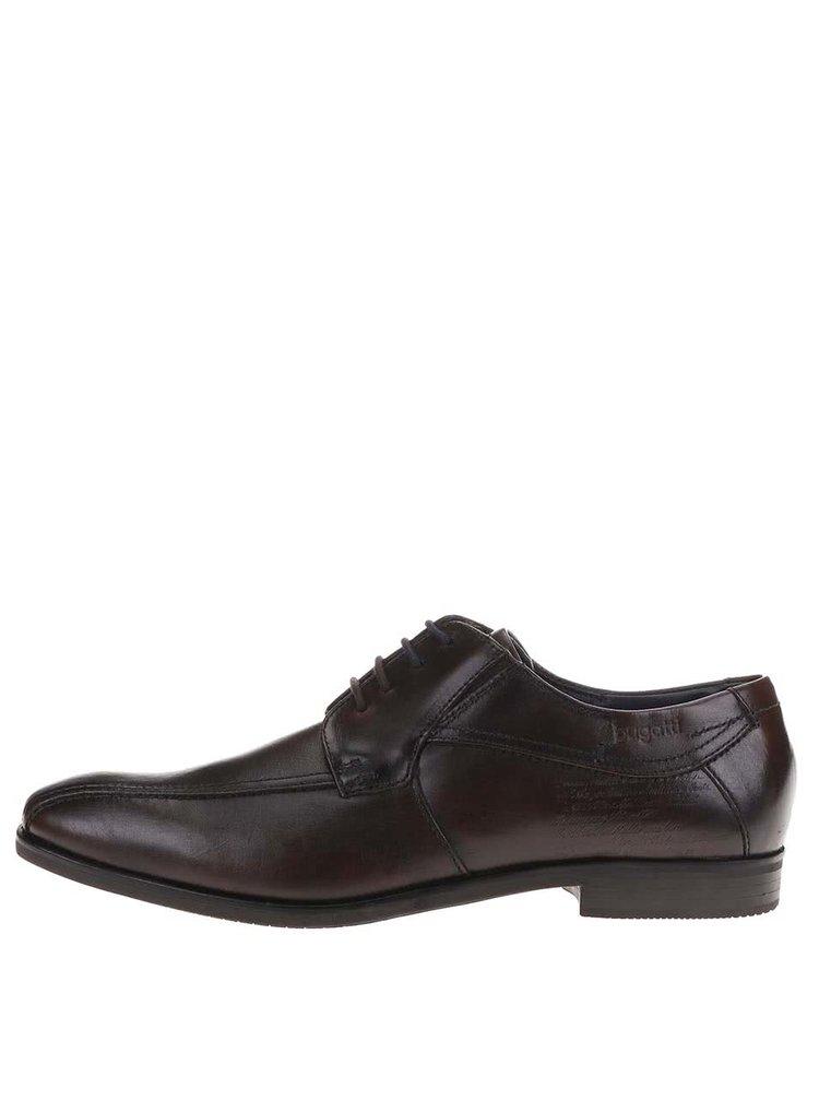 Pantofi Oxford maro închis din piele de la Bugatti