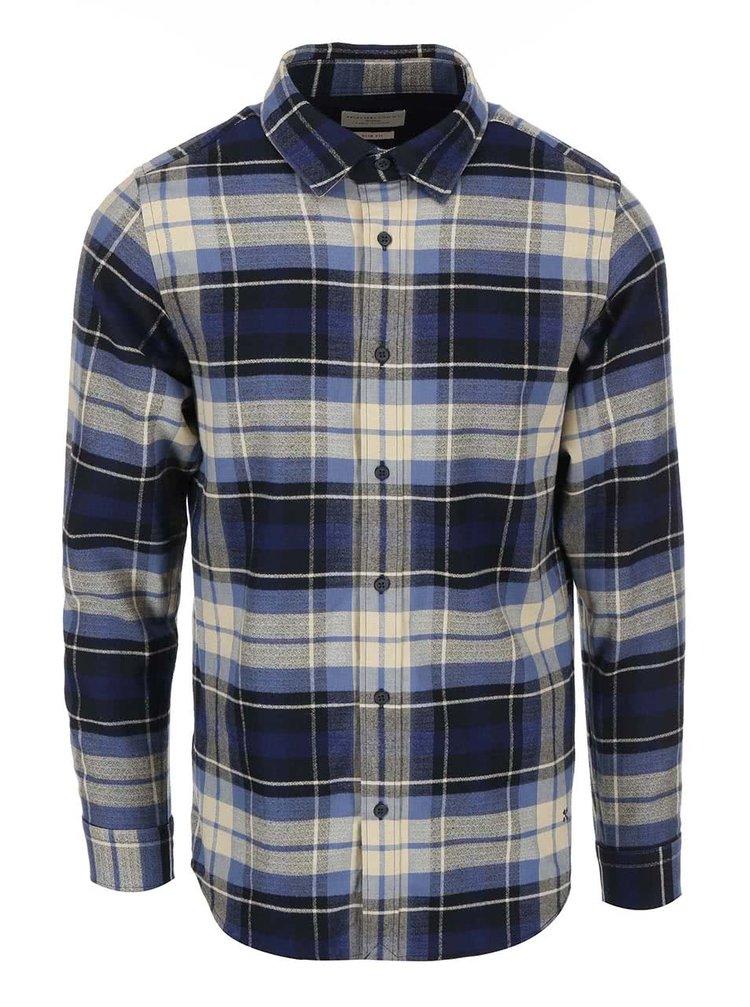 Modro-béžová pánská kostkovaná košile Selected Homme Georg