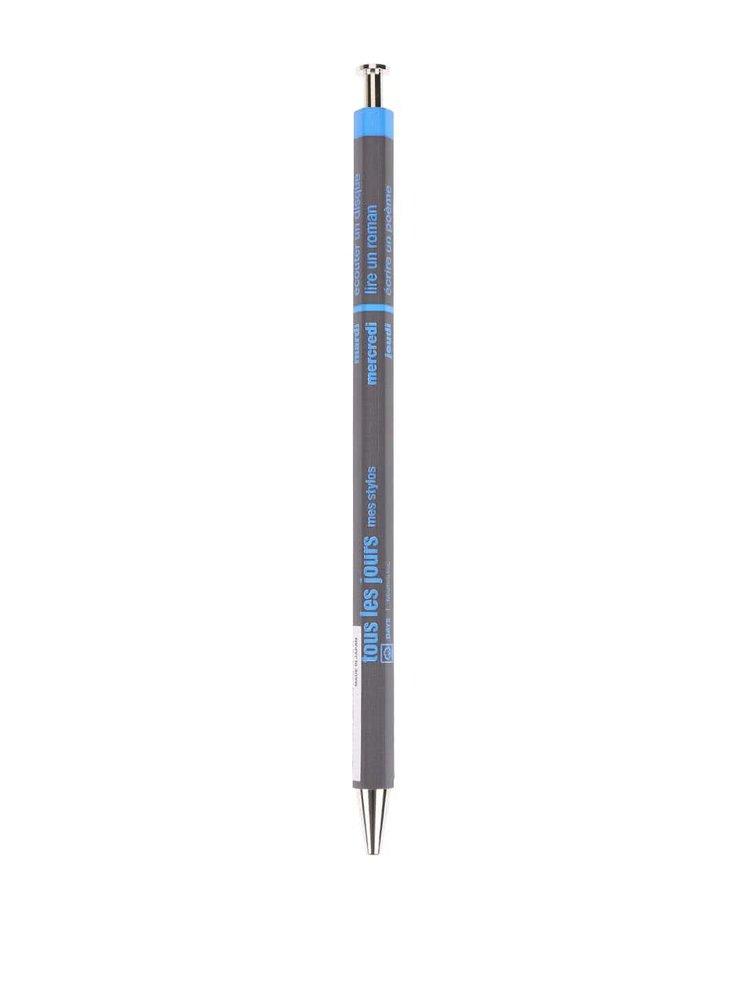 Modro-sivé guľôčkové pero Mark's Days