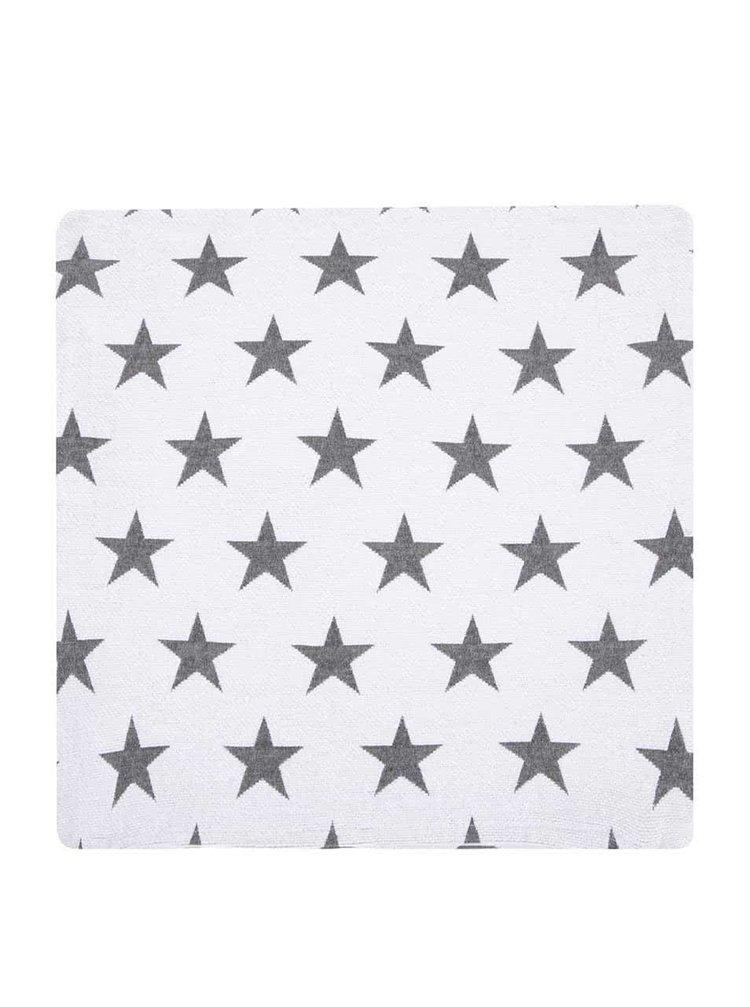 Biely návlek na vankúš s hviezdami Dakls