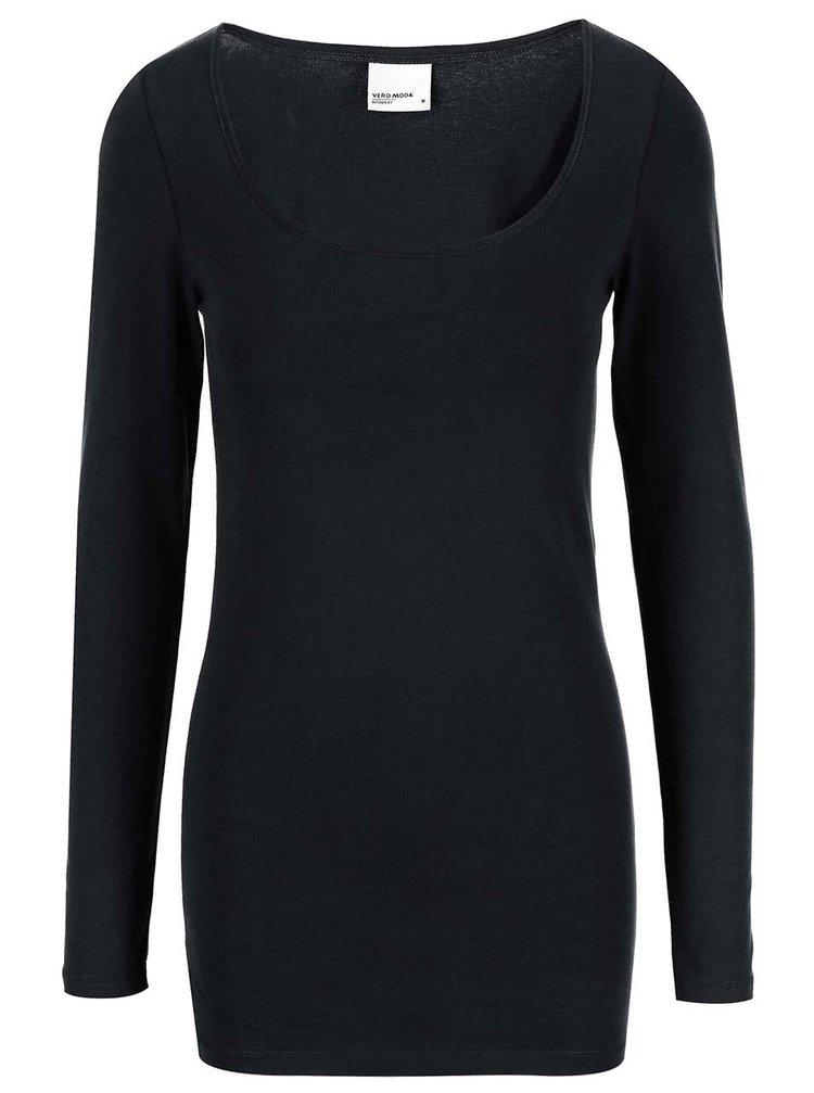 Černé tričko s dlouhým rukávem VERO MODA Maxi My
