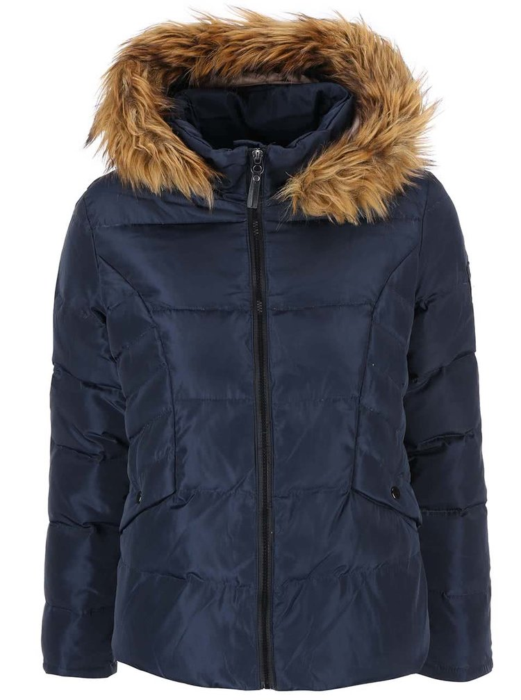 Jachetă cu glugă bleumarin VERO MODA Kelly