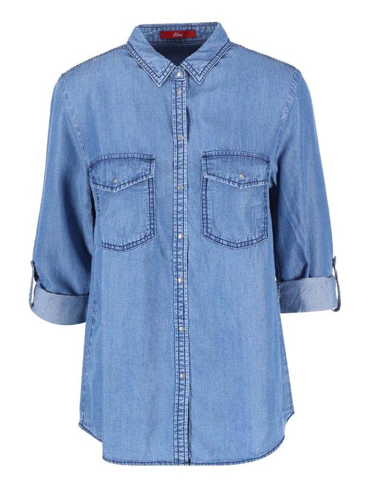 Modrá dámská denimová košile s.Oliver