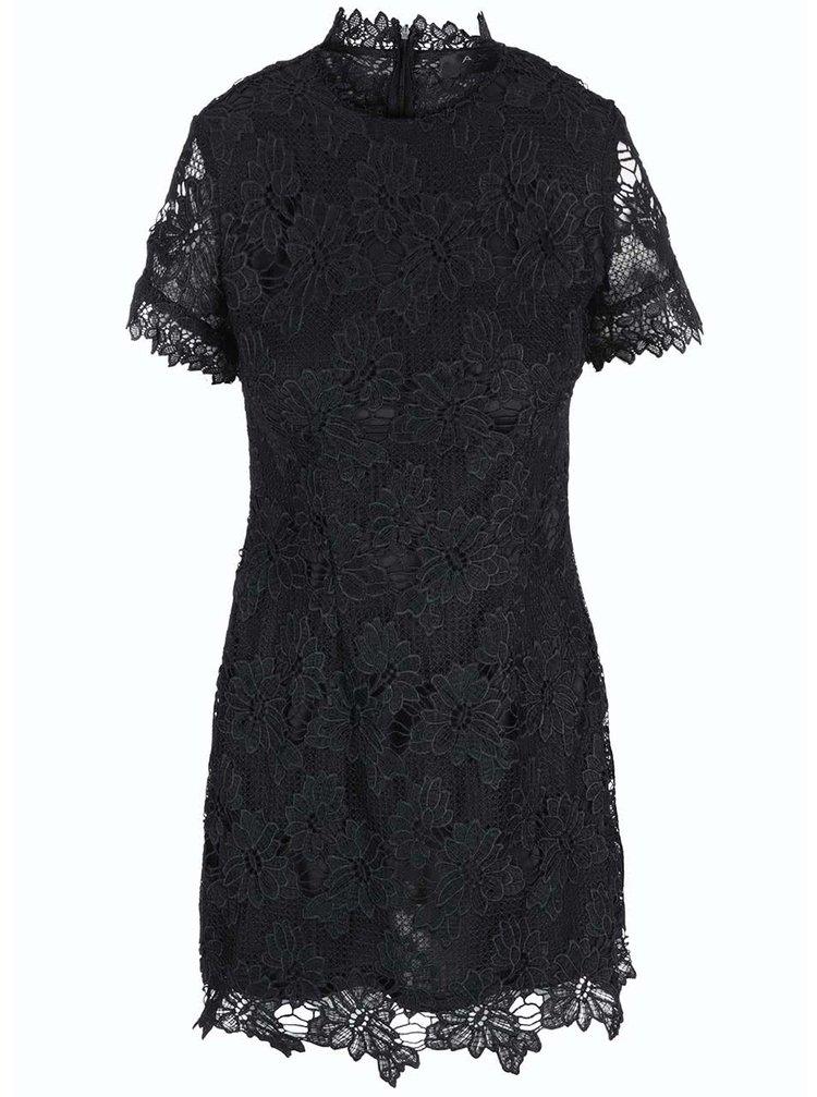 Rochie neagră din dantelă cu mâneci scurte AX PARIS