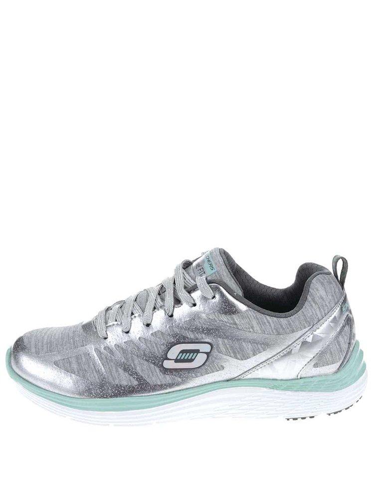 e8299c46a89 ... Sportovní dámské tenisky ve stříbrné barvě Skechers Great One
