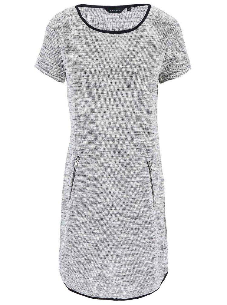 Sivé voľnejšie šaty New Look