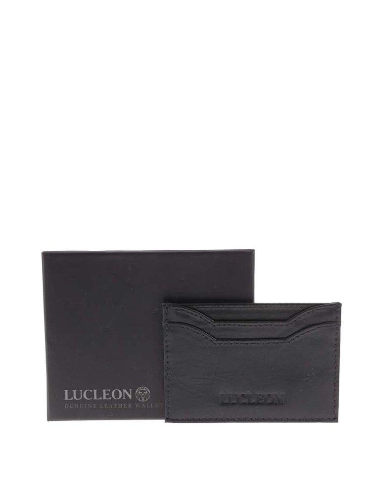 Černý kožený vizitkář Lucleon Bruce