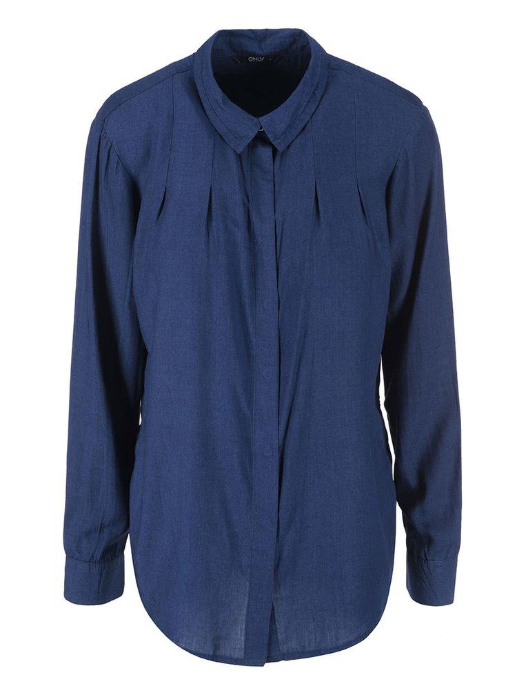Modrá delší košile ONLY Rush
