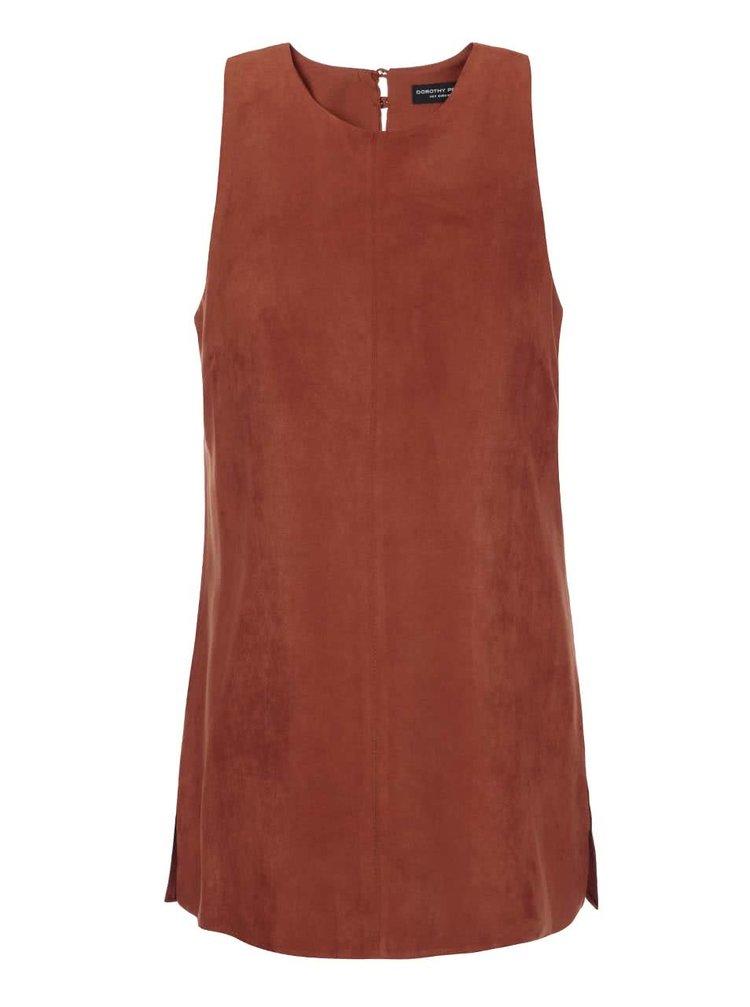 Bluză fără mâneci Dorothy Perkins portocalie