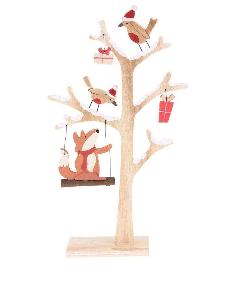 Sass & Belle Copac decorativ din lemn cu vulpe