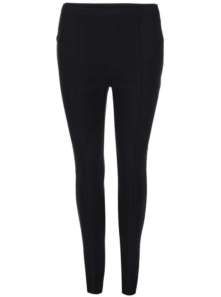 Čierne strečové nohavice s vysokým pásom Dorothy Perkins