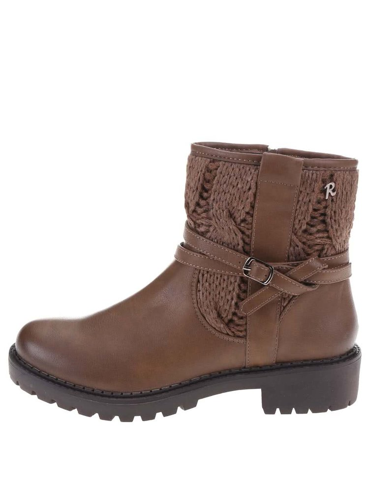 Hnedé členkové topánky s remienkom Refresh