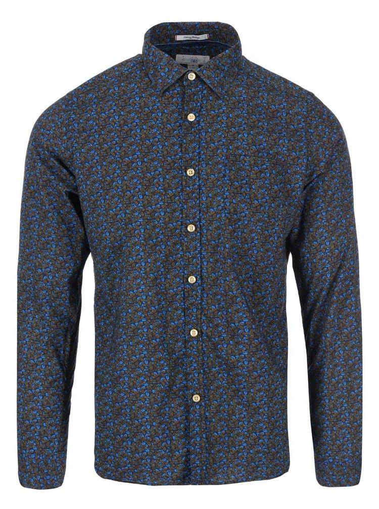 Zeleno-modrá vzorovaná košeľa Dstrezzed