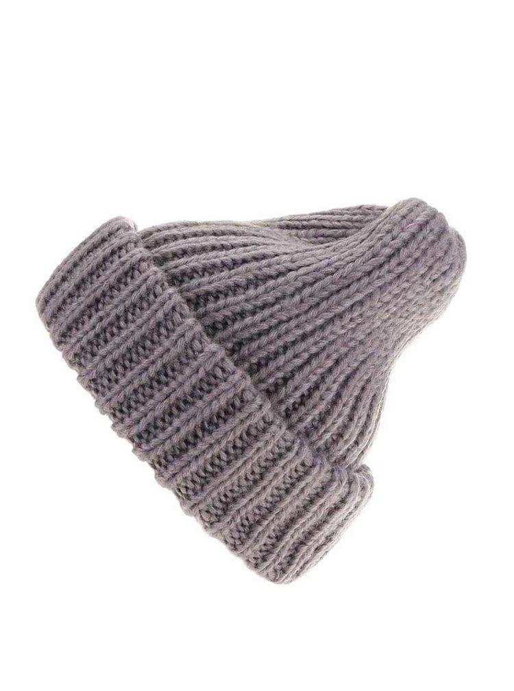 Căciulă Vakky tricotată gri de la Pieces