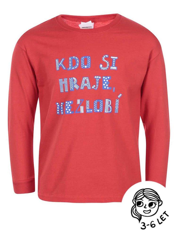 Červené holčičí tričko ZOOT Kids Kdo si hraje nezlobí