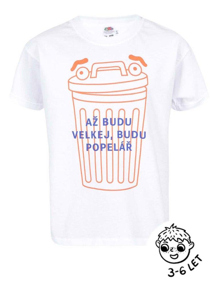 Biele chlapčenské tričko ZOOT Kids Popelář