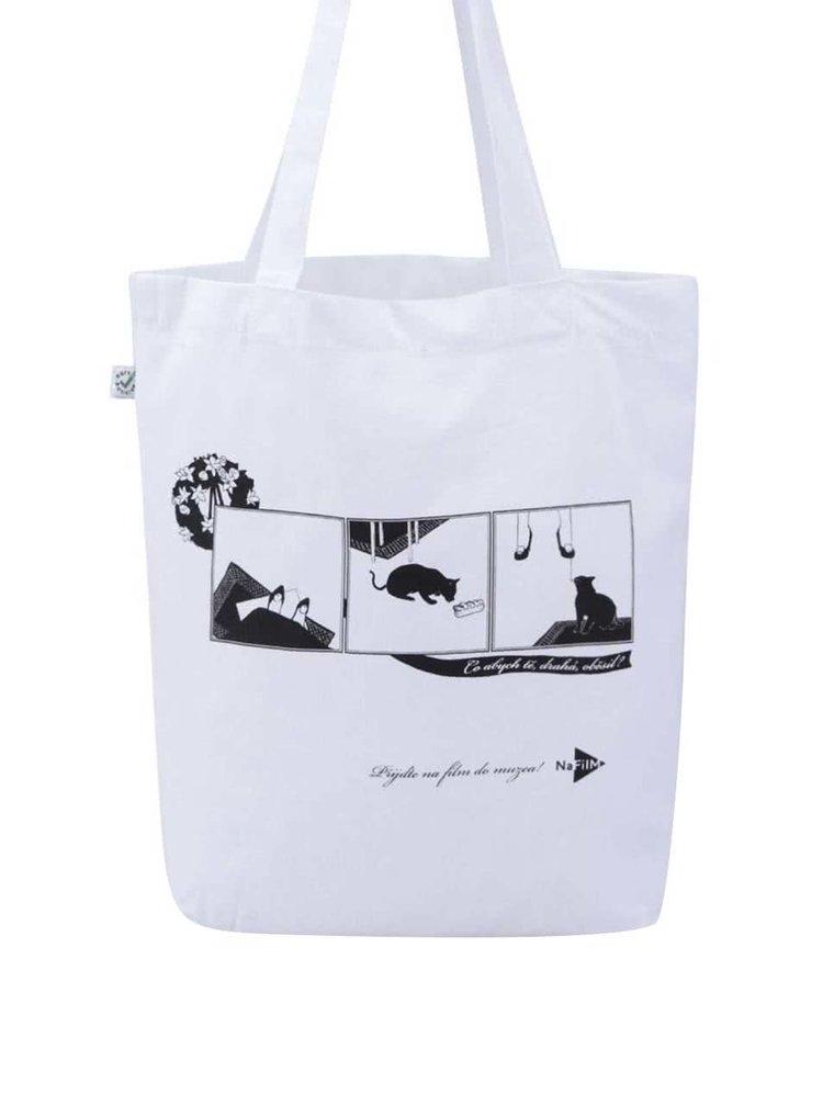 """""""Dobrá"""" biela plátenná taška pre NaFilM Spaľovač"""