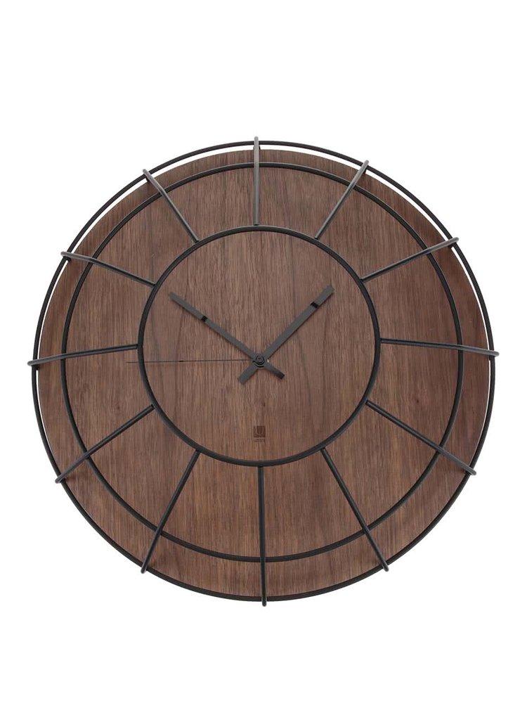 Dřevěné nástěnné hodiny Umbra Cage