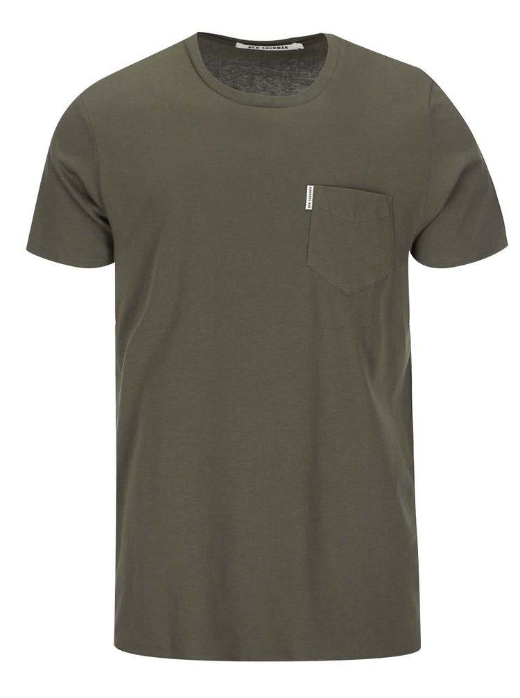 Tmavozelené tričko s náprsným vreckom Ben Sherman