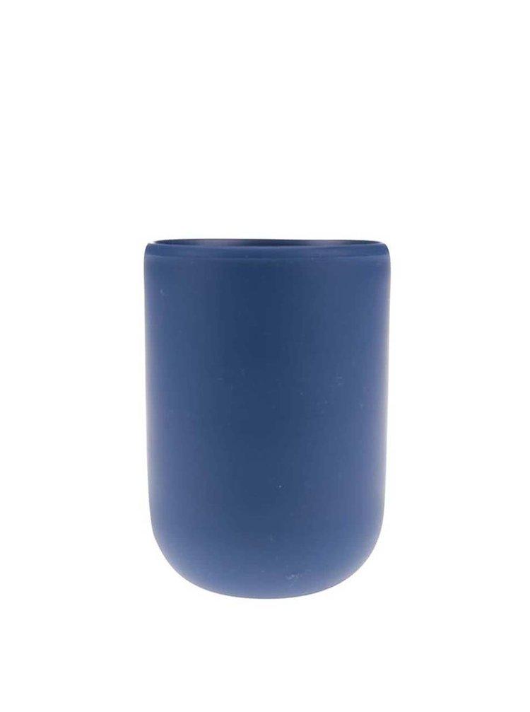 Tmavomodrý pohárik na kefky Umbra Touch