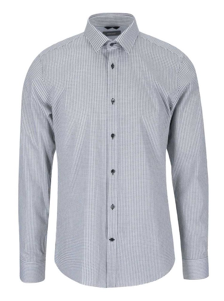 Černo-bílá kostkovaná košile Bertoni Oskar
