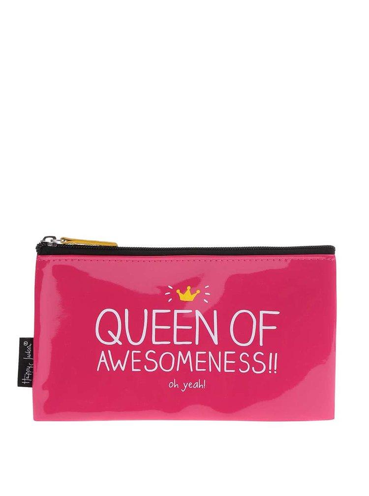 Geantă pentru cosmetice Happy Jackson Queen of Awesome - Roz