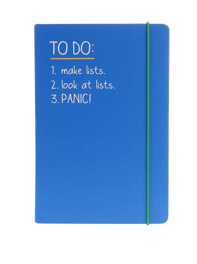 Modrý zápisník A5 Happy Jackson To Do